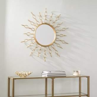 Southern Enterprises Sigal Oversized Gold Starburst Mirror, Glam, Soft Gold