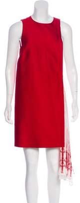 Thomas Wylde Two-Tone Mini Dress