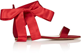 Gianvito Rossi Women's Satin Ankle-Tie Sandals $695 thestylecure.com