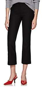 Pt01 Women's Jaine Stretch-Crepe Flared Crop Trousers - Black