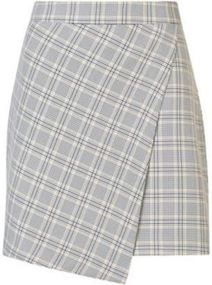 Dorothy Perkins Womens Grey Summer Check Print Mini Skirt