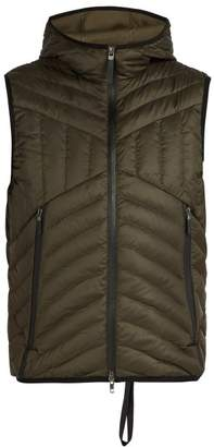 BLACKBARRETT by NEIL BARRETT Chevron Quilted Hooded Nylon Gilet - Mens - Khaki