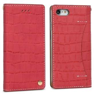 Wetherby NEW Croco leather iPhone 7/7+ case in red/handmade Women's by Design