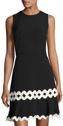 Julia Jordan Fit-and-Flare Sleeveless Dress, Black/White $99 thestylecure.com