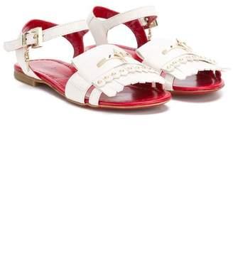 Cesare Paciotti Kids fringed sandals