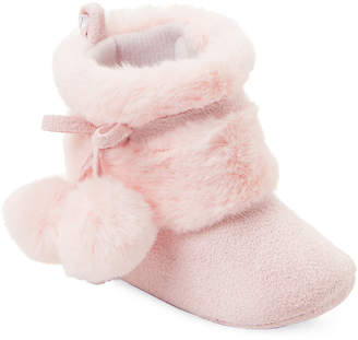 Stepping Stones (Infant/Toddler Girls) Pink Pom-Pom Booties