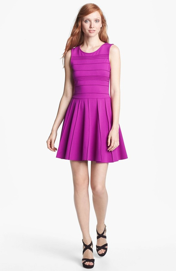 Parker 'Lacey' Stretch Fit & Flare Dress