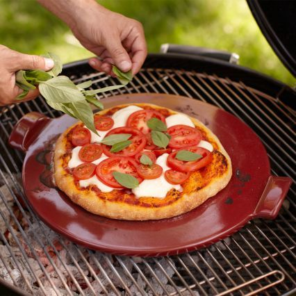 Emile Henry Red Flame-Top Pizza Stone