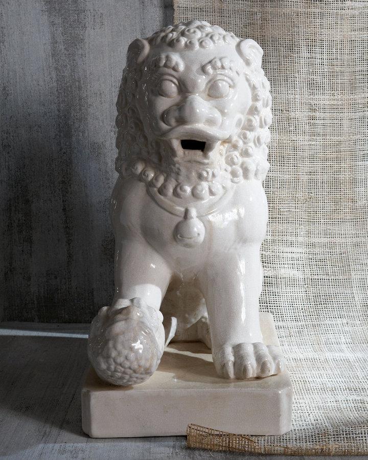 Horchow Two Lion Statues