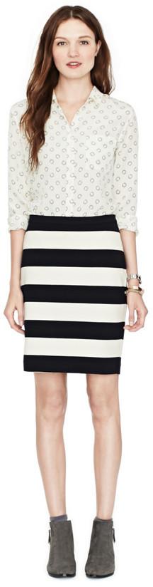 Fossil Simone Pencil Striped Skirt