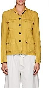 Nili Lotan Women's Cambre Cotton-Linen Jacket - Mustard