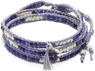 Chan Luu Ribbon & Stone Wrap Bracelet