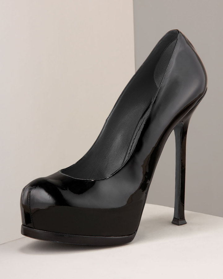 Yves Saint Laurent Tribute Double-Platform Pump
