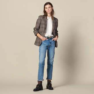 Sandro Washed Straight-Cut Jeans