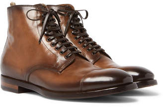 Officine Creative Emory Cap-Toe Leather Boots