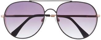 Vince Camuto Rounded Aviator Sunglasses