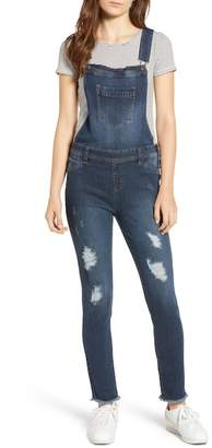 Tinsel Ripped Skinny Overalls