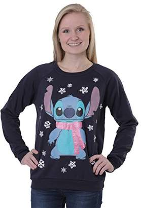 Disney Women's Light Up Stitch Christmas Sweater