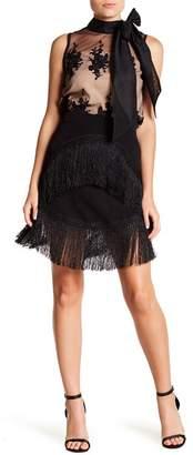 Gracia Asymmetrical Hem Midi Skirt
