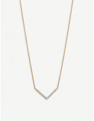Rosegold BUCHERER FINE JEWELLERY Geometrix 18ct rose-gold and diamond necklace