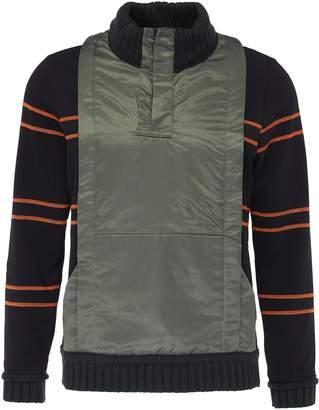 Craig Green 'Ridge' nylon panel stripe sleeve half-zip sweater