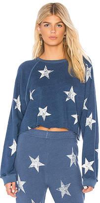 Monrow Star Raglan Sweatshirt
