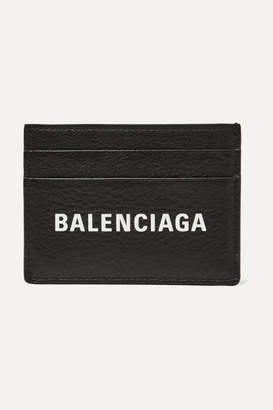 Balenciaga Everyday Printed Textured-leather Cardholder