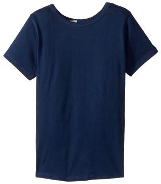 4Ward Clothing Short Sleeve Scoop Jersey Top - Reversible Front/Back Girl's T Shirt