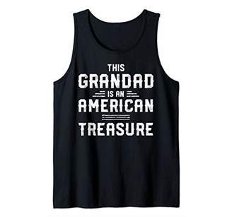 Mens This Grandad Is An American Treasure Father's Day Papa Gift Tank Top