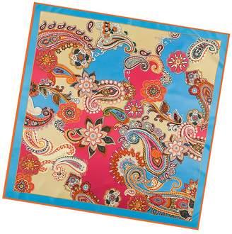 "Mulberry Anshili Women's Flowers Silk Square Scarf 40""x40"""