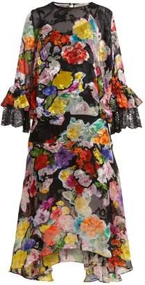 Preen by Thornton Bregazzi Madeleine floral-print silk-blend devoré dress