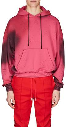 Off-White MEN'S COTTON FRENCH TERRY HOODIE - PINK SIZE XS