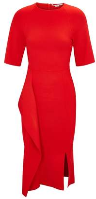 Stella McCartney Red Draped Stretch-knit Dress
