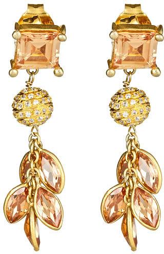 Kanupriya Champagne Drop Earrings
