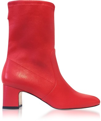 Stuart Weitzman Niki 60 Red Nappa Ankle Boots
