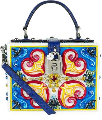 Dolce & Gabbana Mambo Plexiglass Top Handle Bag