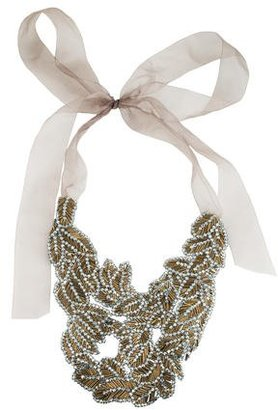 Vera Wang Beaded Bib Necklace $275 thestylecure.com