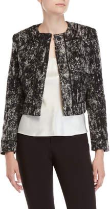 Adria Moss Cropped Boucle Jacket