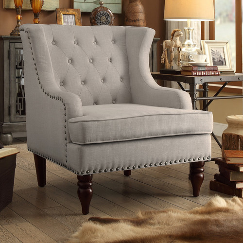 iNSTANT HOME Jewel Tufted Wingback Club Chair