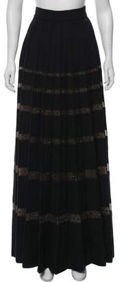 Marc Jacobs Wool Embellished Maxi Skirt