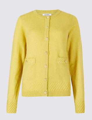 Marks and Spencer Lambswool Blend Textured Cardigan