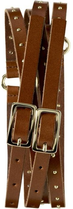 Studded double-strap belt
