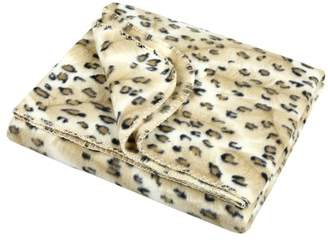 Accessorize Leopard Faux Fur Throw
