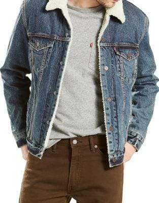 Levi's Faux Fur Denim Trucker Jacket