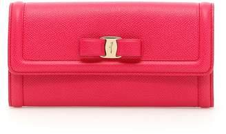 Salvatore Ferragamo Continental Wallet With Vara Bow