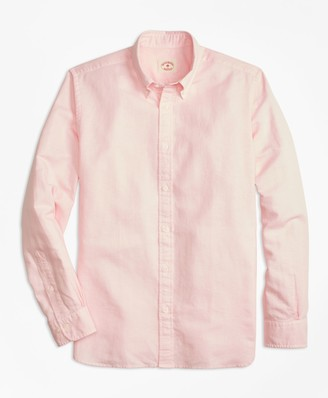 Brooks Brothers Garment-Dyed Linen-Cotton Sport Shirt