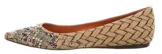 Missoni Embellished Woven Flats