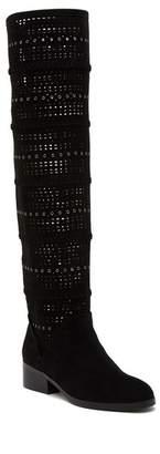 Donald J Pliner Devya Laser-Cut Tall Boot