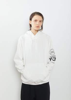 Y-3 Graphic Hooded Sweatshirt Core White