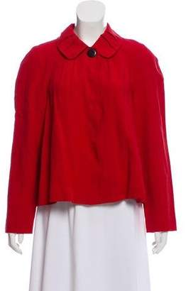 Magaschoni Pleat Accented Peter Pan Collar Jacket